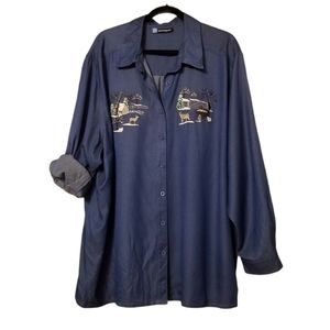 Penningtons Country Nature Embroidered Shirt